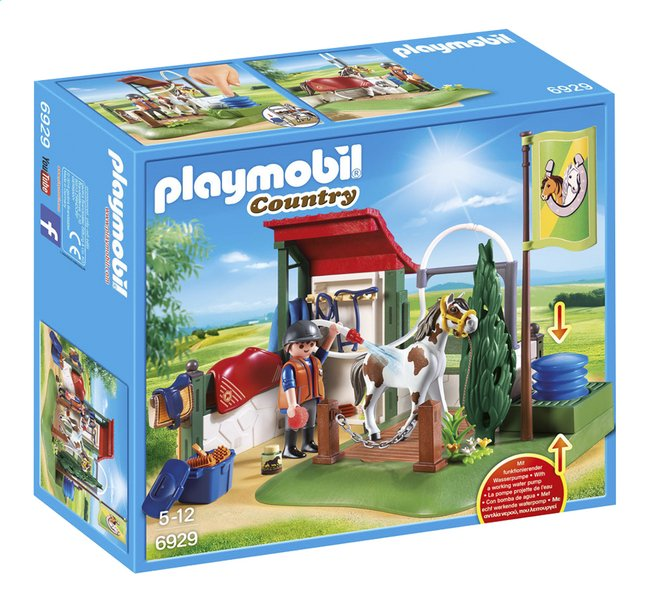 playmobil country 6929 box de lavage pour chevaux dreamland. Black Bedroom Furniture Sets. Home Design Ideas