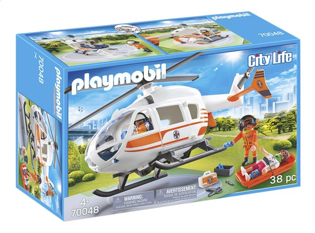 PLAYMOBIL City Life 70048 Hélicoptère de secours