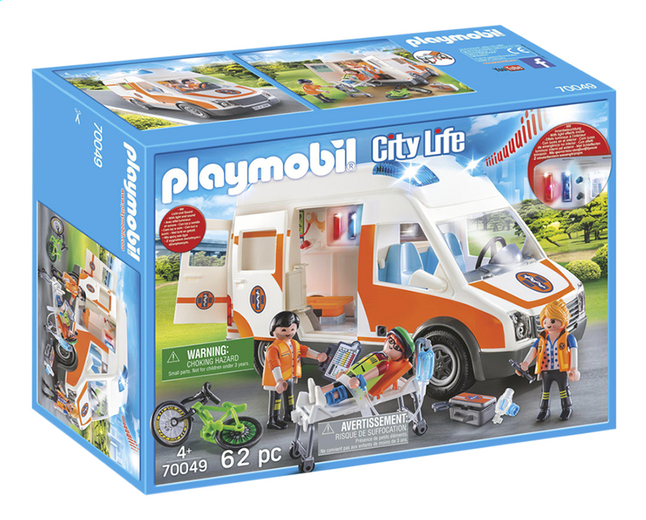 PLAYMOBIL City Life 70049 Ambulance en ambulanciers