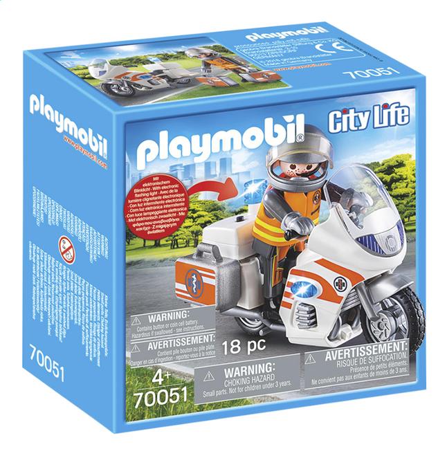 PLAYMOBIL City Life 70051 Urgentiste et moto