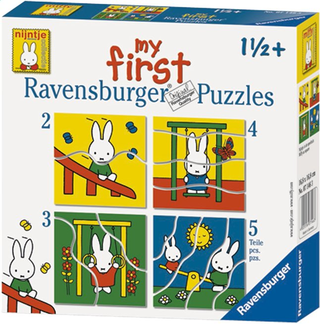 Afbeelding van Ravensburger meegroeipuzzel 4-in-1 Nijntje from DreamLand