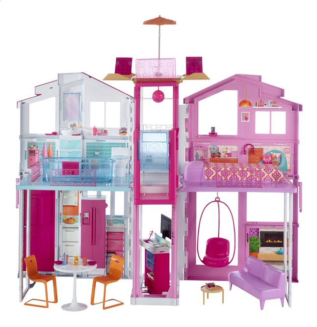 Afbeelding van Barbie poppenhuis Malibu Townhouse from DreamLand