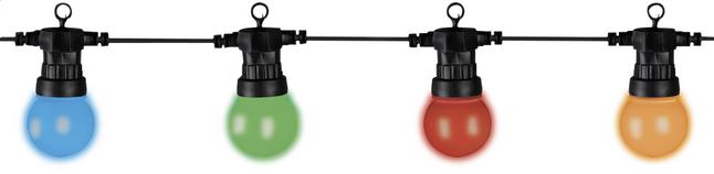 Guirlande lumineuse led 20 lampes multicolor kit d - Guirlande lumineuse led exterieur solaire ...
