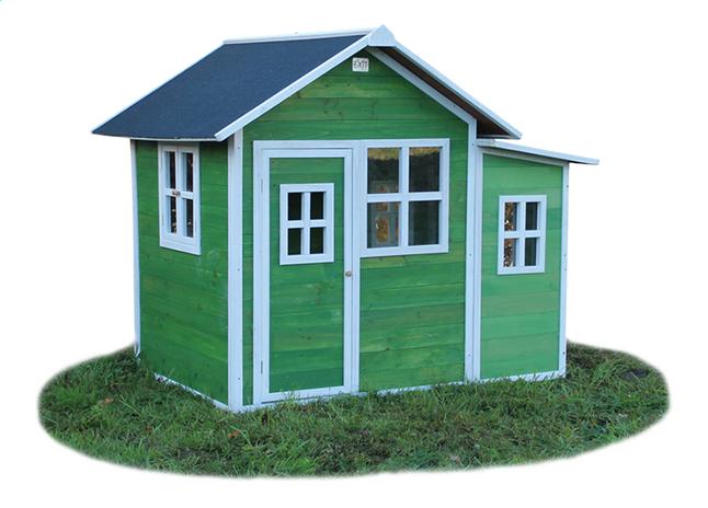 Afbeelding van EXIT houten speelhuisje Loft 150 groen from DreamLand