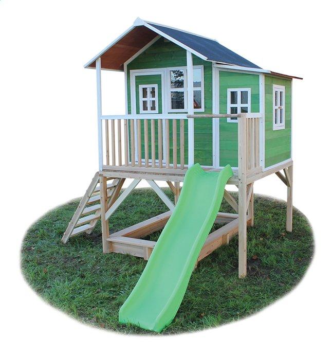 Afbeelding van EXIT houten speelhuisje Loft 550 groen from DreamLand