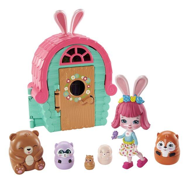 Eve Angel houdt van haar nieuwe roze-gekleurde speelgoed