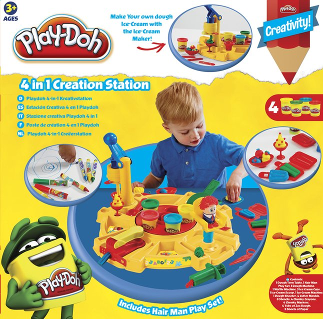 Afbeelding van Play-Doh speelset 4-in-1 Creëerstation from DreamLand