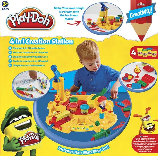 Play-Doh speelset 4-in-1 Creëerstation