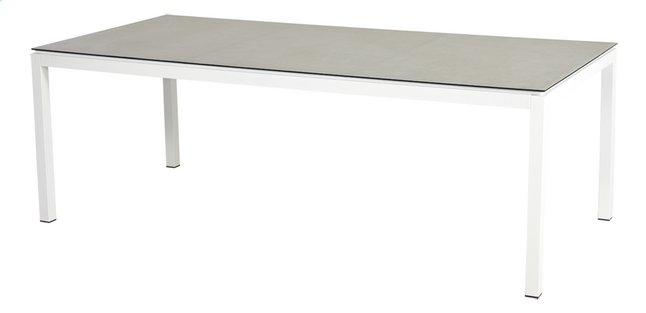 Ocean table de jardin Jura blanc L 220 x Lg 100 cm | DreamLand