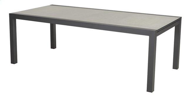 Ocean table de jardin à rallonge Lissabon charcoal L 220 x Lg 106 cm