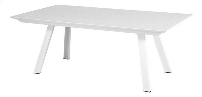 Ocean table de jardin à rallonge Lanna blanc L 200 x Lg 110 cm