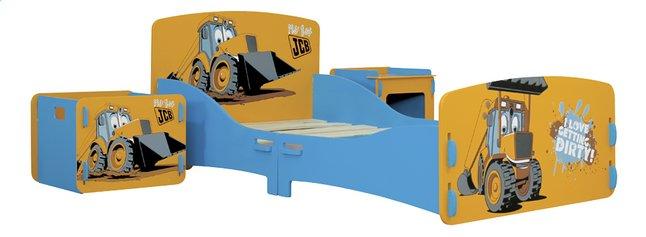 Afbeelding van Peuterbed JCB met nachtkastje en speelgoedkoffer from DreamLand