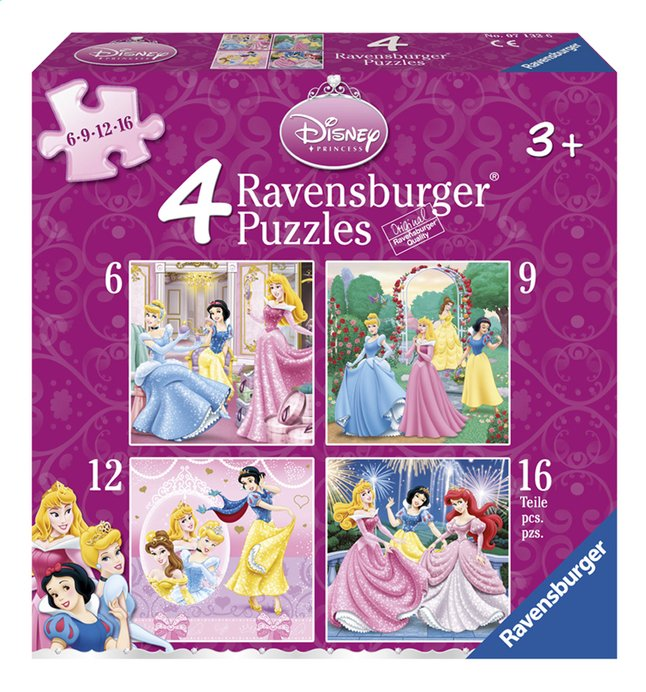 Afbeelding van Ravensburger 4-in-1 meegroeipuzzel Disney princess from DreamLand