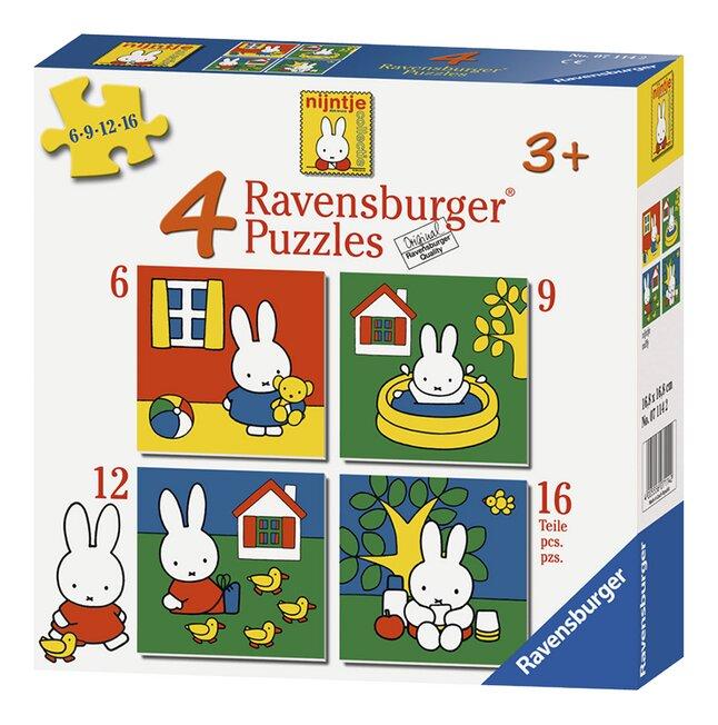 Image pour Ravensburger puzzle évolutif 4 en 1 Miffy à partir de DreamLand