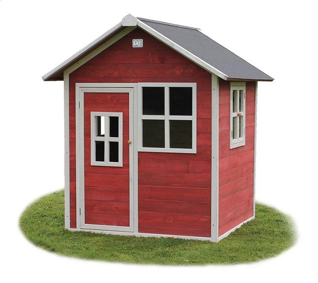 Afbeelding van EXIT houten speelhuisje Loft 100 rood from DreamLand