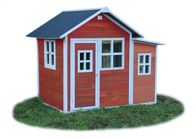 Afbeelding van EXIT houten speelhuisje Loft 150 rood from DreamLand