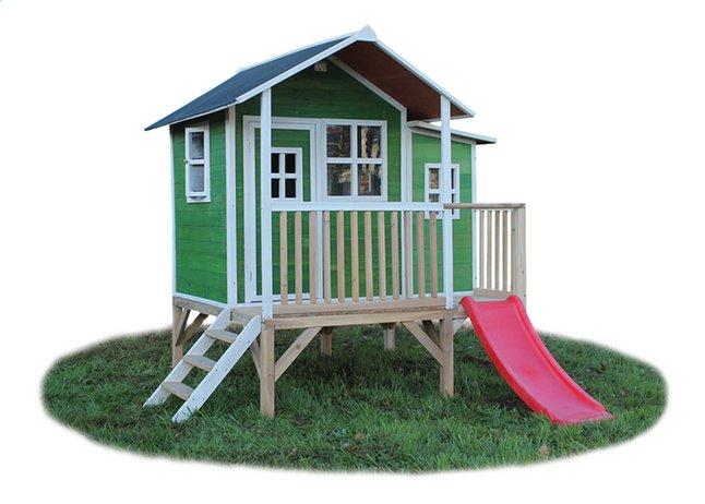Afbeelding van EXIT houten speelhuisje Loft 350 groen from DreamLand