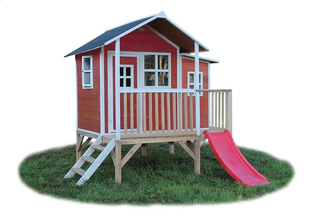 Afbeelding van EXIT houten speelhuisje Loft 350 rood from DreamLand