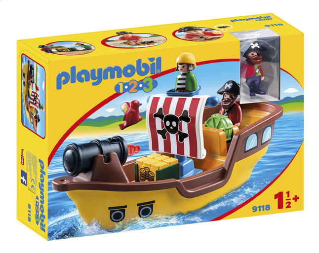 PLAYMOBIL 1.2.3 9118 Bateau de pirates