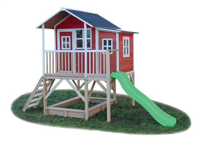 Afbeelding van EXIT houten speelhuisje Loft 550 rood from DreamLand