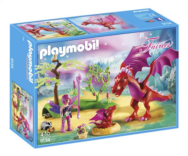 Afbeelding van Playmobil Fairies 9134 Drakenhoeder met rode draken from DreamLand