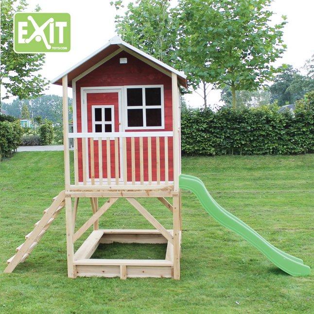 Afbeelding van EXIT houten speelhuisje Loft 500 rood from DreamLand