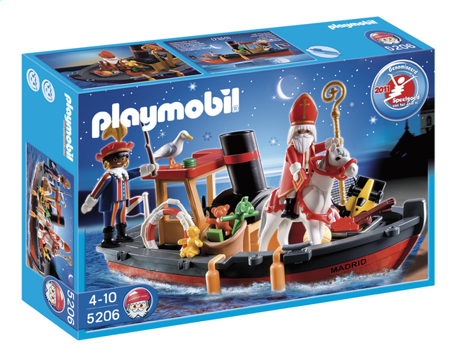 Afbeelding van Playmobil Sinterklaas 5206 Stoomboot van Sinterklaas from DreamLand