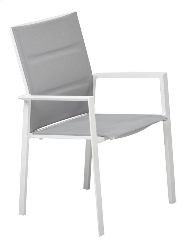 Jati & Kebon Chaise de jardin Alayi gris clair/blanc | DreamLand
