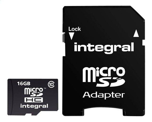 Afbeelding van Integral geheugenkaart microSDHC + adapter 16 GB from DreamLand