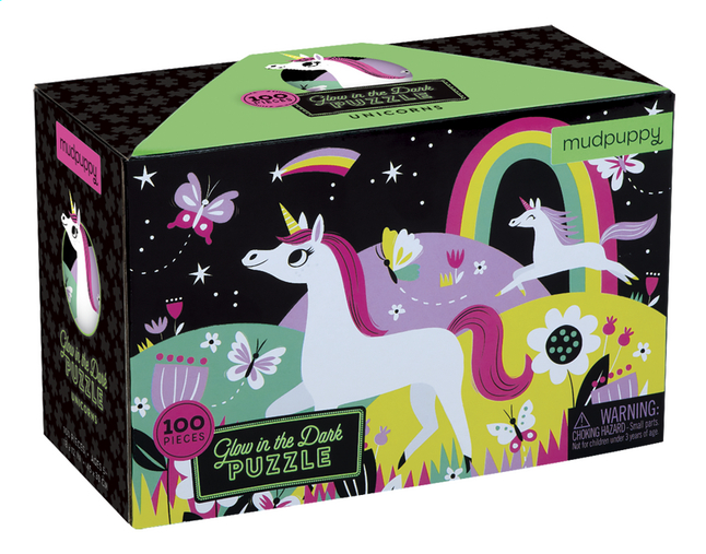 Mudpuppy puzzel Glow in het Dark Unicorns