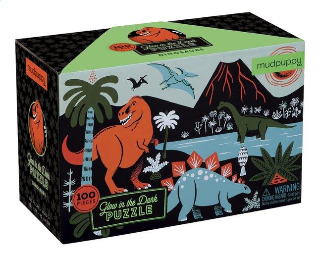 Mudpuppy puzzel Glow in het Dark Dinosaurs