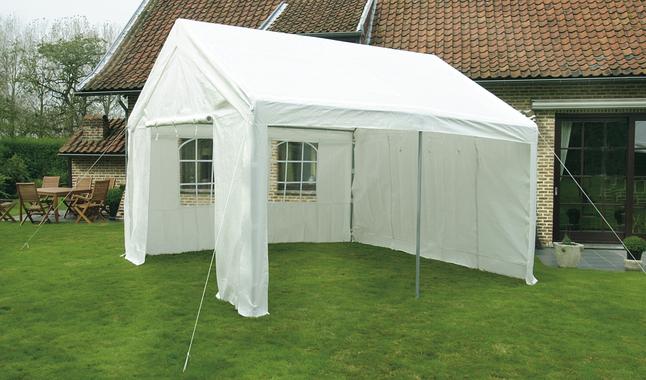 Tente de réception robuste en polyéthylène 4 x 4 m