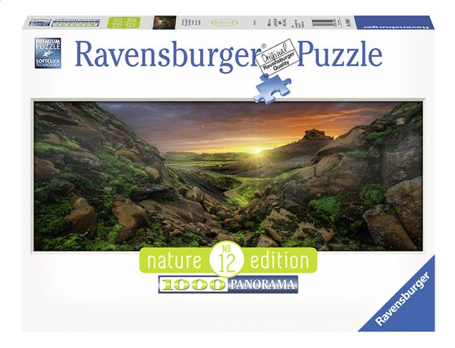 Afbeelding van Ravensburger panoramapuzzel Zon over IJsland from DreamLand