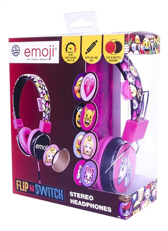 Afbeelding van Emoji Hoofdtelefoon Flip & Switch zwart/roze from DreamLand