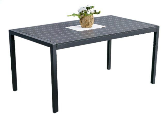 Table de jardin Cannes anthracite L 160 x Lg 90 cm