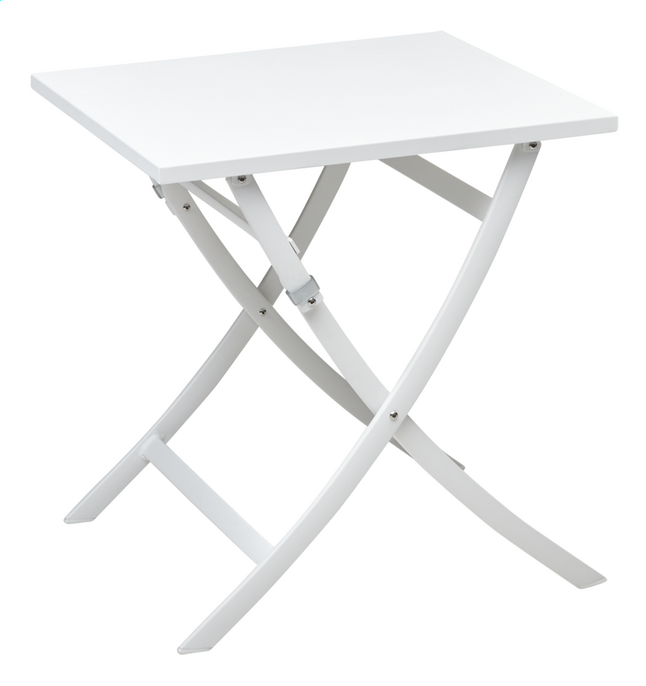 Ocean Table pliante Shiko blanc L 70 x Lg 70 cm