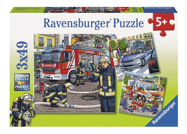 Afbeelding van Ravensburger Puzzel 3-in-1 Helpers in nood from DreamLand