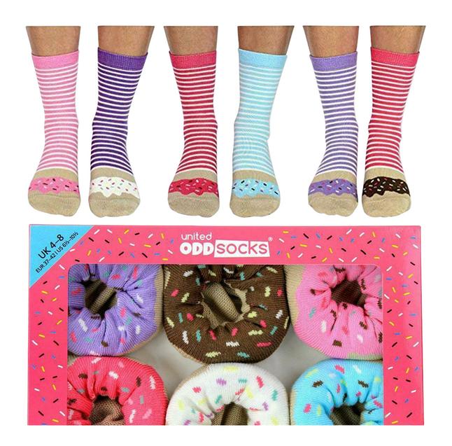 Afbeelding van United Odd Socks Donuts 6 sokken maat 37-42 from DreamLand