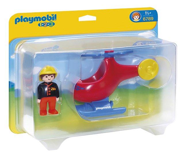 Image pour Playmobil 1.2.3. 6789 Pompier avec hélicoptère à partir de DreamLand