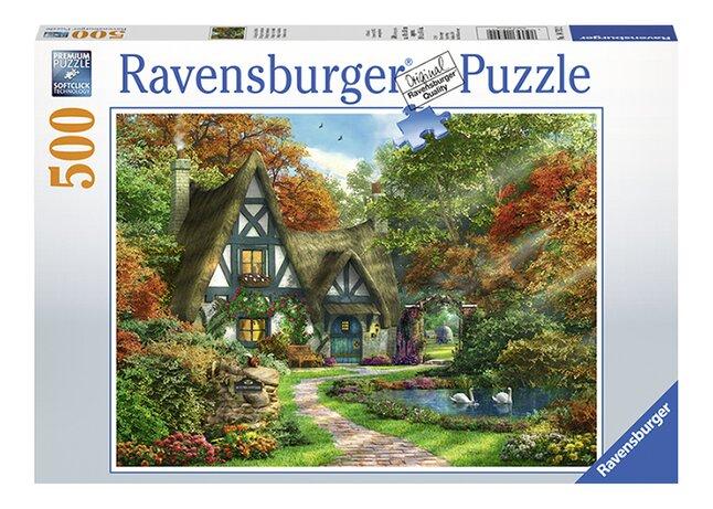 Afbeelding van Ravensburger puzzel Cottage in de herfst from DreamLand