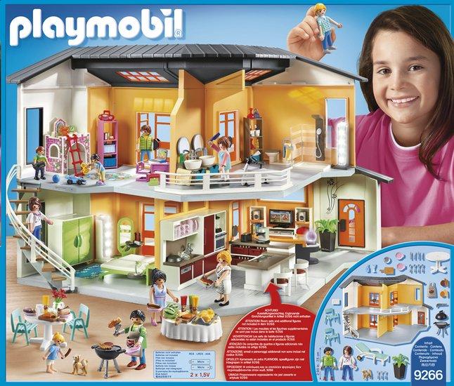 aménagement de maison moderne playmobil