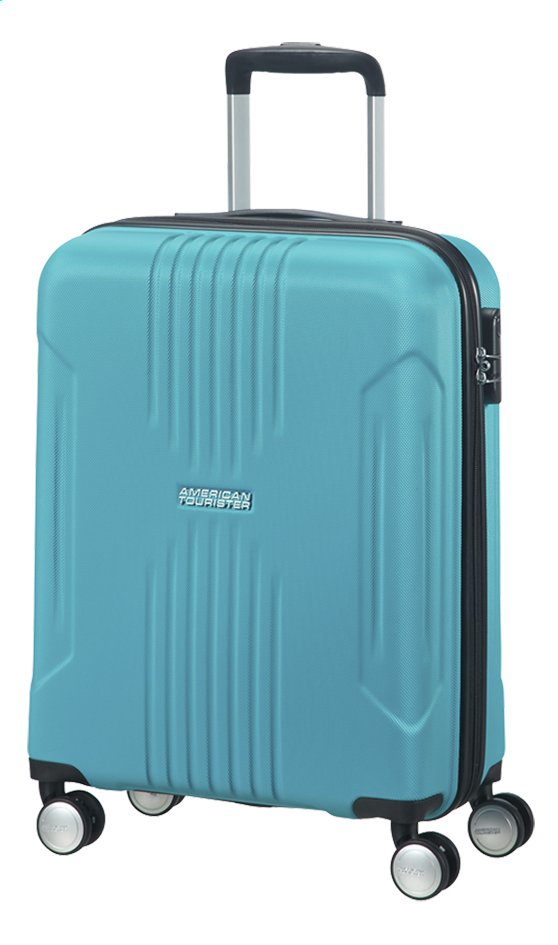 Afbeelding van American Tourister Harde reistrolley Tracklite Spinner sky blue 55 cm from DreamLand