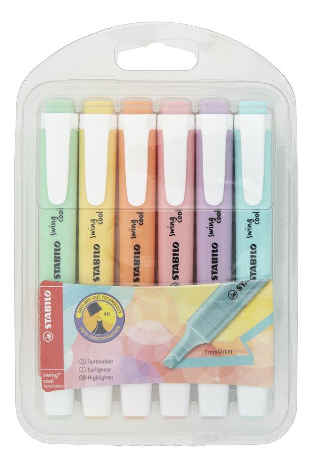 Afbeelding van STABILO Swing Cool fluostift Pastel - 6 stuks from DreamLand