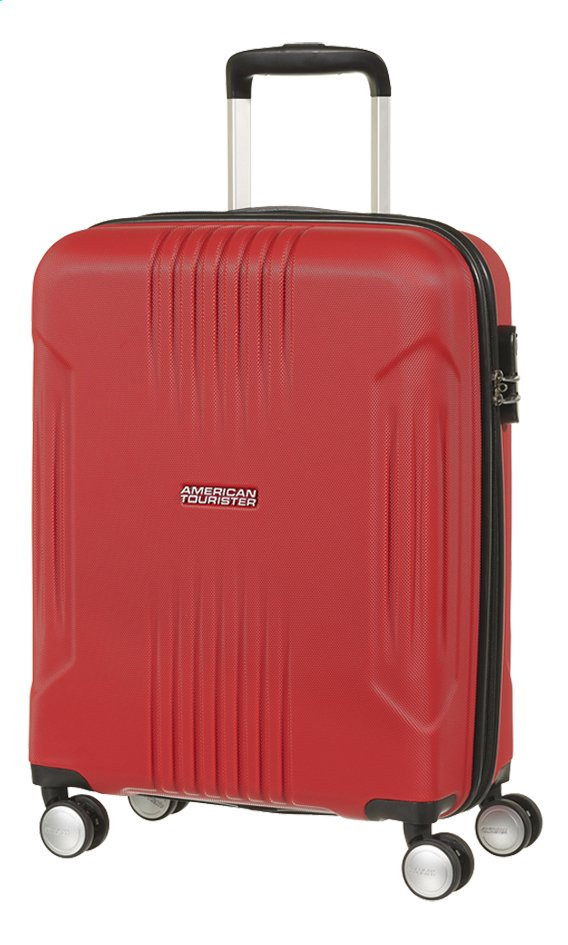Afbeelding van American Tourister Harde reistrolley Tracklite Spinner flame red 55 cm from DreamLand
