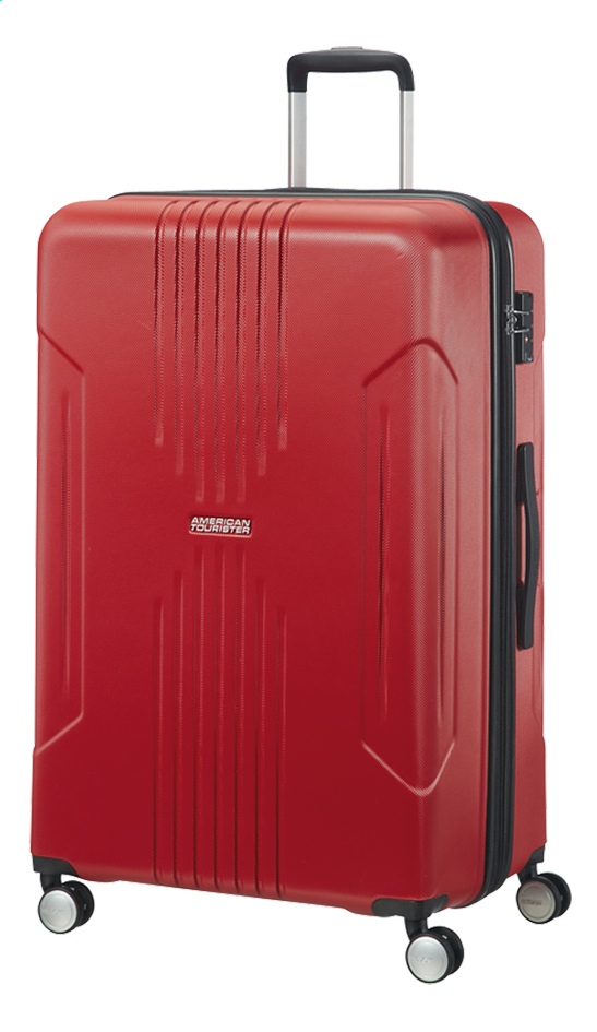 American Tourister Harde reistrolley Tracklite Spinner flame red