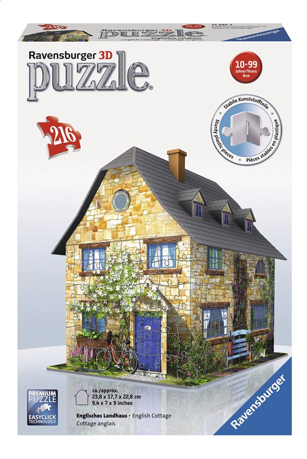 Afbeelding van Ravensburger 3D-puzzel English cottage from DreamLand