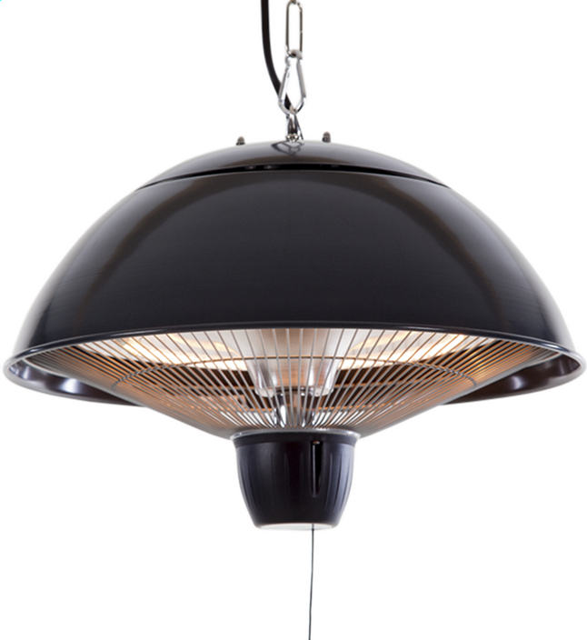 Afbeelding van Sunred Elektrische hangende terrasverwarmer Mushroom 1500 W antraciet from DreamLand