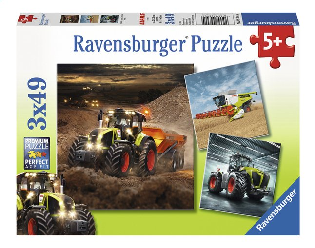 Afbeelding van Ravensburger Puzzel 3-in-1 CLAAS Axion, Lexion Xerion from DreamLand