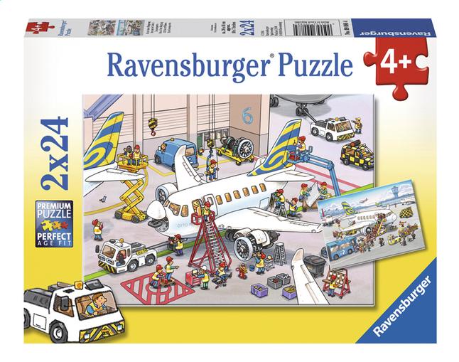 Afbeelding van Ravensburger Puzzel 2-in-1 Rond het vliegtuig from DreamLand