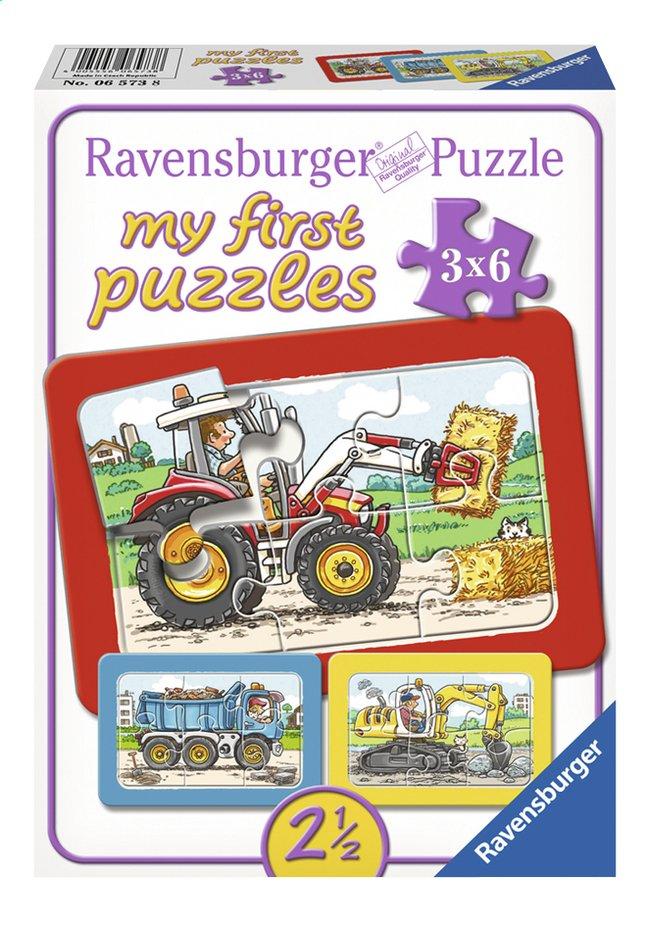 Afbeelding van Ravensburger Puzzel 3-in-1 My First Graafmachine, tractor en kiepauto from DreamLand